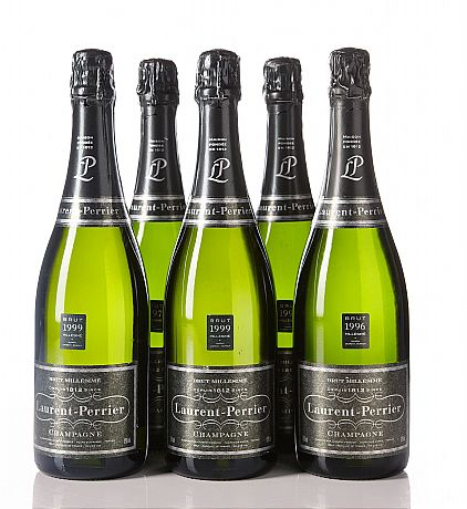 Mixed lot Champ Laurent Perrier 1996, 1997, 1999