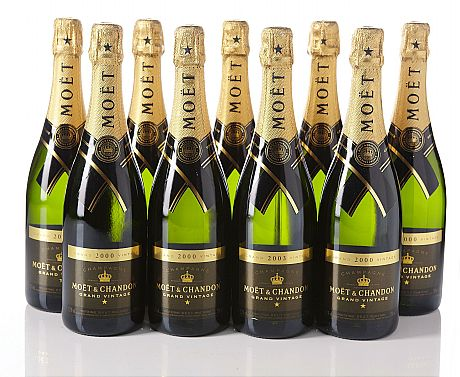 Mixed lot Moët & Chandon Grand Vintage