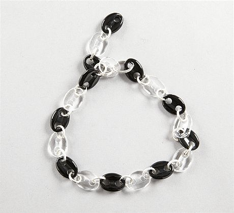 Collier onyx bergkristall