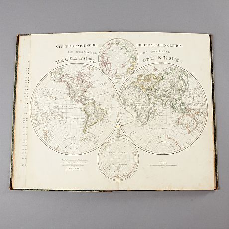 Atlas with coloured plates