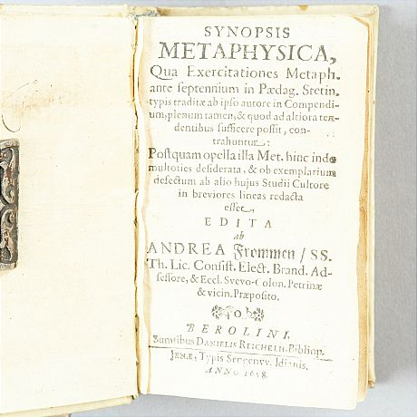 Rare book on metaphysics