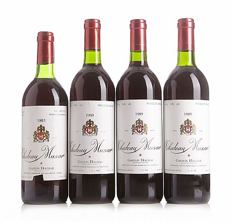 Mixed lot: 1981-1989 Château Musar