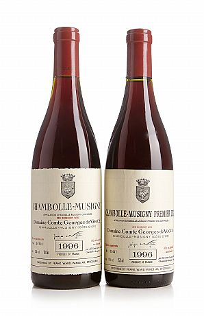 Mixed lot: 1996 Chambolle-Musigny, Vogüé