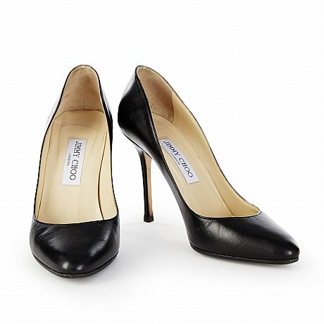 Jimmy Choo, pumps i svart skinn