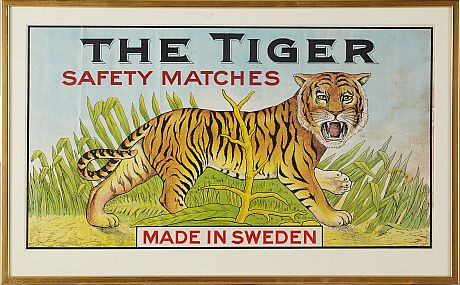 The Tiger Safety Matches 1900-tal