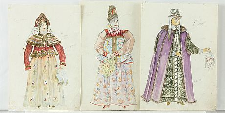 Various artists, Five Theatrical Costume Designs