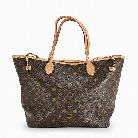 Louis Vuitton, tote Neverfull MM, monogrammönstrad