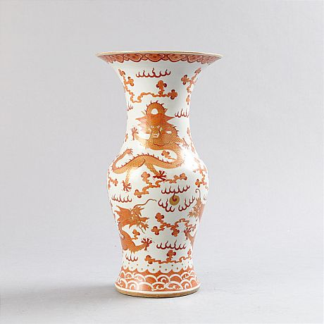 An Iron Red Dragon Vase (Selected)