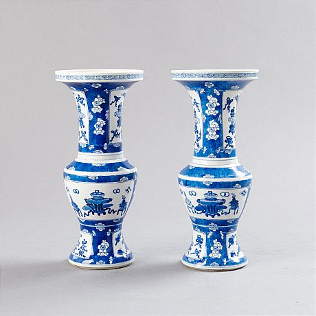 A Pair of Underglazed Vases (Selected)