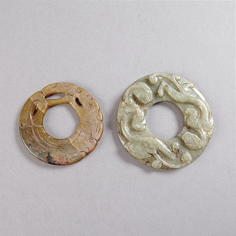 Two Jade Bi Discs (Selected)