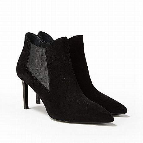 Saint Laurent, booties i svart mocka