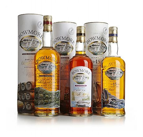 Mixed lot: Voyage, Mariner & Cask Strength Bowmore