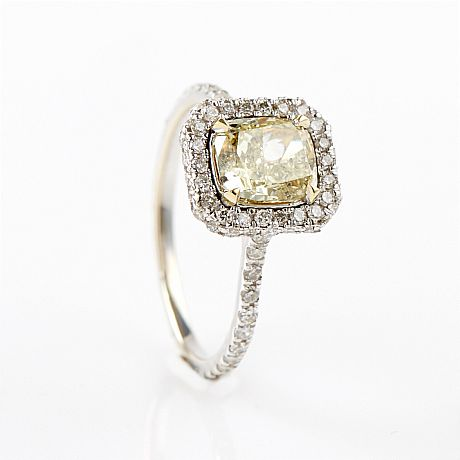 gul diamant ring