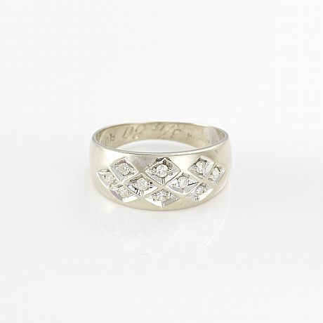 Ring 18 k vitguld briljanter