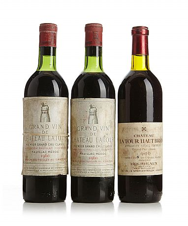 Mixed lot: 1960 Bordeaux