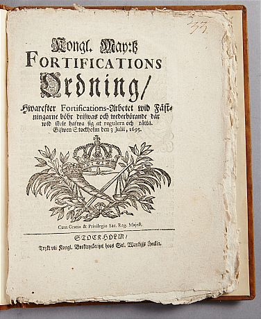 Dahlbergs fortifikationsordning 1695