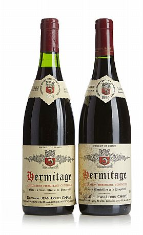Mixed lot: 1988 & 1990 Hermitage Rouge, Chave
