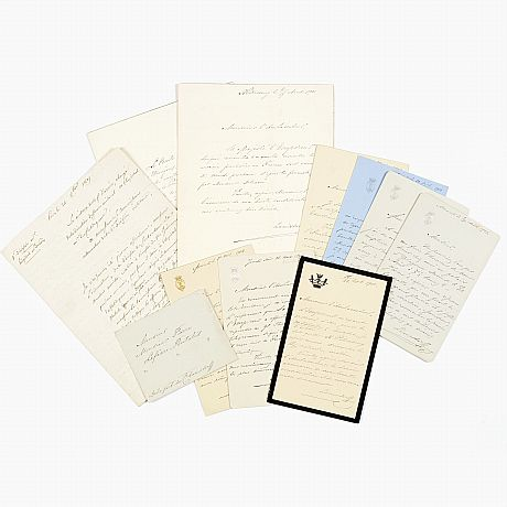 Signed letters from count Vladimir Lamsdorff