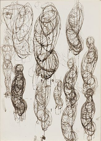 Pavel Tchelitchew tuschteckning - ink on paper
