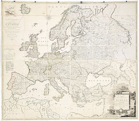 Large map of Europe Vienna Artaria 1807