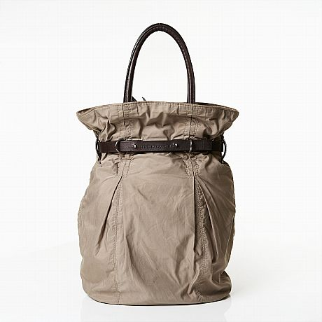 Brunello Cucinelli shoppingbag i beige bomull