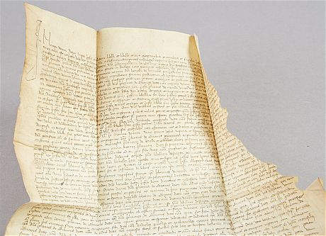 15th century document on vellum, dated 1461
