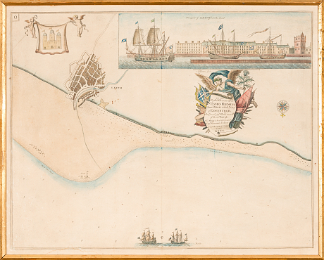 Leith Scotland Map.Auktion 18th Century Map Of Leith Scotland Stockholms