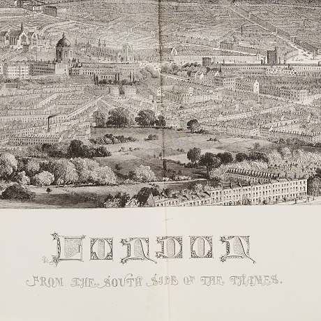 London from the south side of the Thames 1861