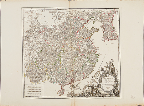 Map of  China by  Robert de Vaugondy 1751