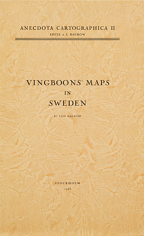 Vingboon's maps in Swedish collection