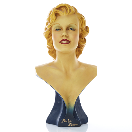 Byst av Marilyn Monroe resin