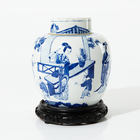A Blue and White Jar with Cover Asian Sale