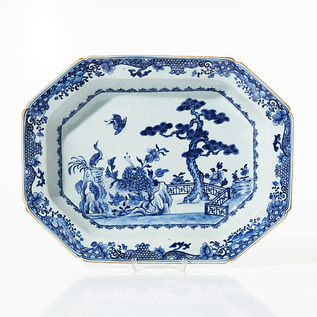 A Blue and White Tureen Stand Asian Sale