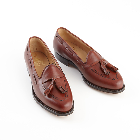 Crockett & Jones loafers i ljusbrunt slätt skinn