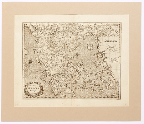 Jansson's fine map of Greece 1638