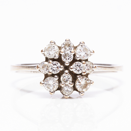 Ring 18 k vitguld diamanter 0,40 ct