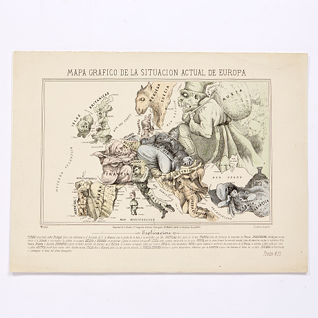Lachica satirical map of Europe 1870