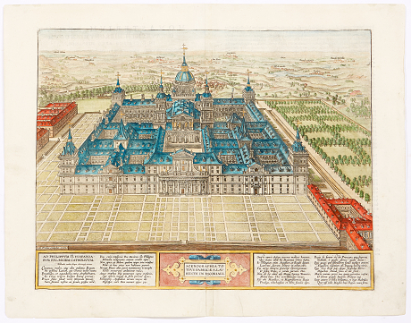 Escorial by Ortelius 1603