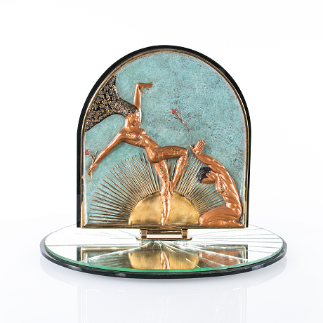 Erte sculpture/table mirror