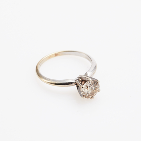Ring 14 k vitguld diamant