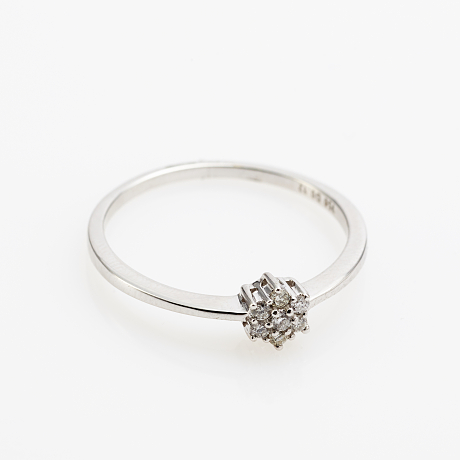 Love is Ring 18 k vitguld briljanter