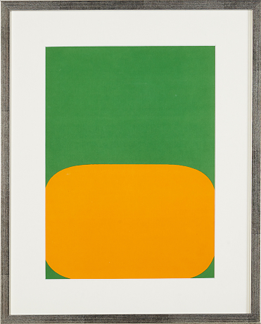 Ellsworth Kelly färglitografi
