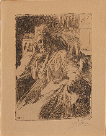 Anders Zorn etsning