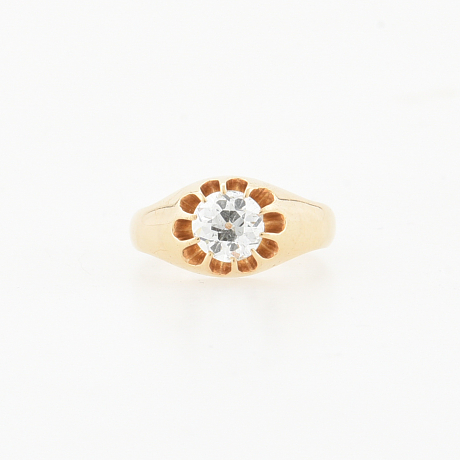 Ring med diamant ca 0.87 ct 18K