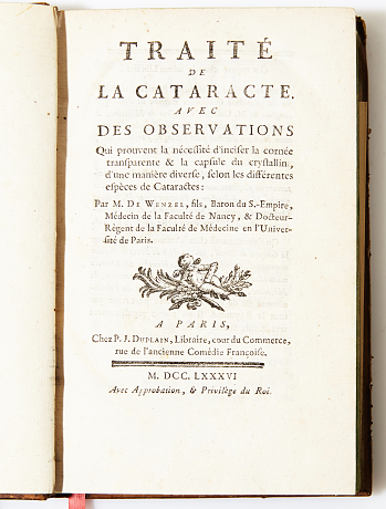 Wenzel on cataracts 1786