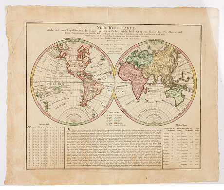 World map by Homann heir's 1784