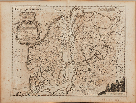 Karta Danckwerth Germania antiqua 1652