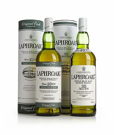 Mixed lot: Laphroaig 10 Years Old