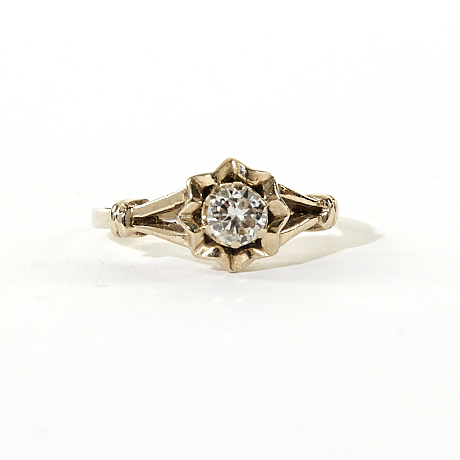 Ring med briljant 0,35 ct