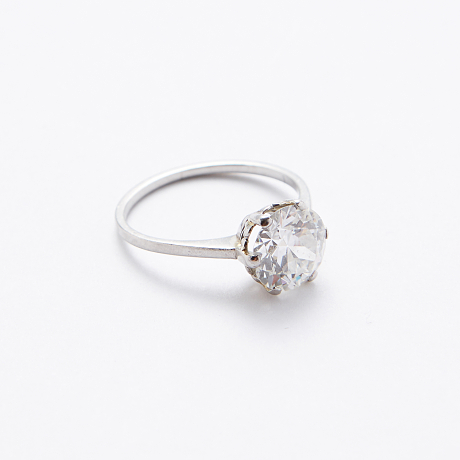 Ring platina med diamant 2,15 ct